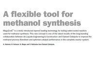 A flexible tool for methanol synthesis